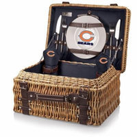 NFL Picnic Basket Set by Picnic Time, Champion - Chicago Bears, Navy