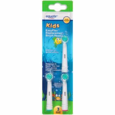 Equate Kids EasyFlex Replacement Brush Heads, Extra-Soft, 3ct