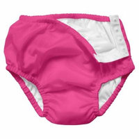Iplay Baby Girl Pool Approved Absorbent Cloth Reusable Swim Diaper Bathing Suit Solid Swimsuit Hot Pink 12 Months