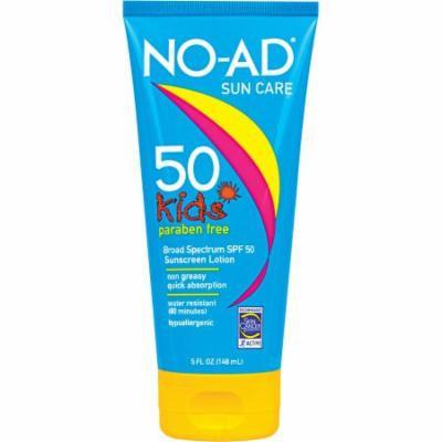 NO-AD Kids Sunscreen Lotion, SPF 50, 5 fl oz