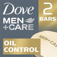 Dove Men+Care Oil Control Body and Face Bar, 4 oz, 2 Bar