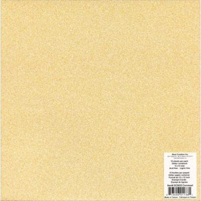 Best Creation Glitter Cardstock 12 Inch X 12 Inch-Cornmeal