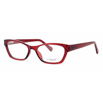 Enhance Optical Designer Eyewear :: 3903 Eyeglasses in Burgundy ; DEMO LENS