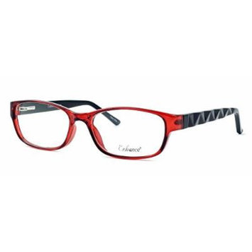 Enhance Optical Designer Eyewear :: 3959 Eyeglasses in Burgundy-Black ; DEMO LENS