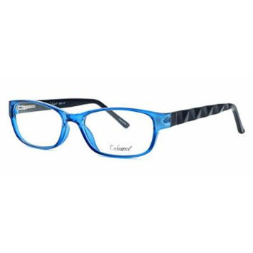 Enhance Optical Designer Eyewear :: 3959 Eyeglasses in Cobalt-Black ; DEMO LENS