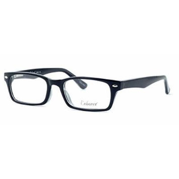 Enhance Optical Designer Eyewear :: 3928 Eyeglasses in Black-Crystal ; DEMO LENS