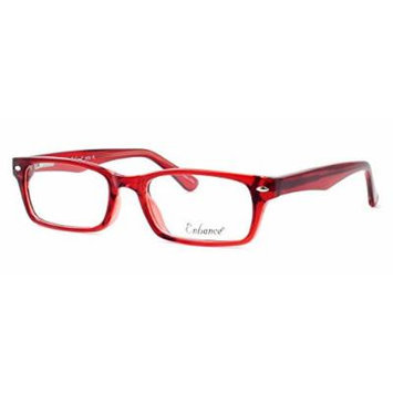 Enhance Optical Designer Eyewear :: 3928 Eyeglasses in Burgundy ; DEMO LENS