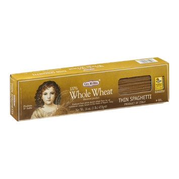Gia Russa 100% Whole Wheat Thin Spaghetti