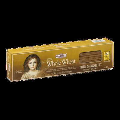 Gia Russa 100% Whole Wheat Thin Spaghetti