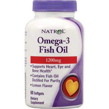 Natrol Omega-3 Fish Oil Lemon 1200 mg 60 Softgels
