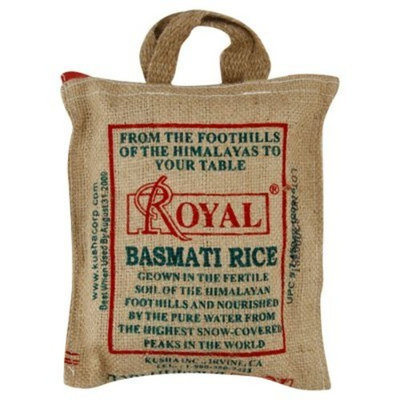 Royal Rice - Basmati - 6 Burlap Bags (32 oz ea)