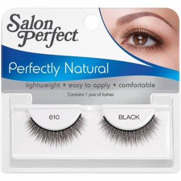 Salon Perfect Perfectly Natural False Lashes, 610 Black