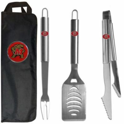 Maryland Terrapins 3 pc Stainless Steel BBQ Set with Bag