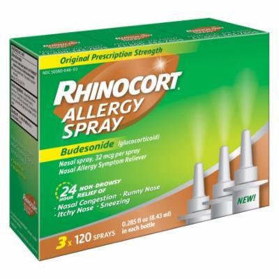 Rhinocort Allergy Spray 3 x 120 ct.