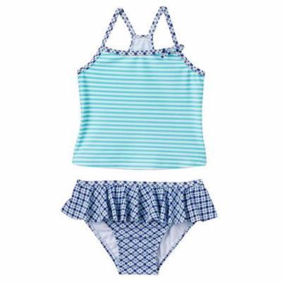 Carter's Turquoise Tankini Girls Swimwear 4T