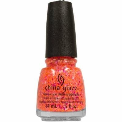 China Glaze Nail Lacquer with Hardeners, Let the Beat Drop, 0.5 fl oz