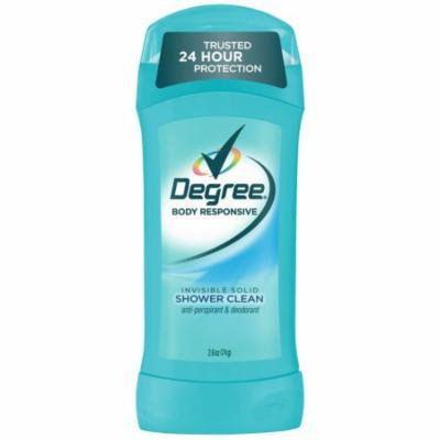Degree Invisible Solid Shower Clean Antiperspirant & Deodorant - 2.6oz -Pack of 3 + FREE SHIPPING!