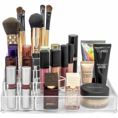 Acrylic Sectional Makeup Organizer, Medium, Square