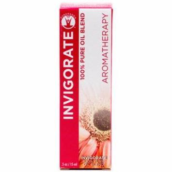Gurunanda Invigorate 100% Pure Essential Oil Blend, .5 oz