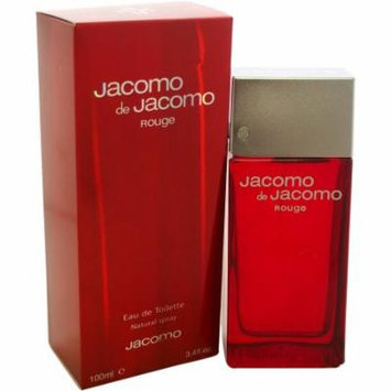 Jacomo De Jacomo Rouge for Men Eau de Toilette Spray, 3.4 oz