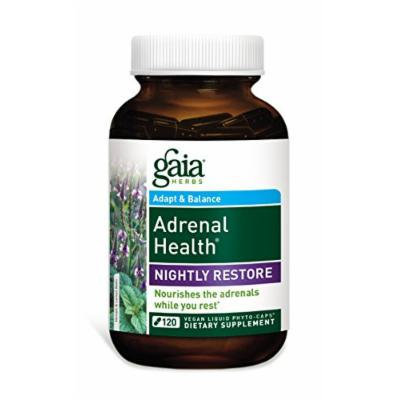 Gaia Herbs Adrenal Health Nightly Restore Supplement, 120 Count