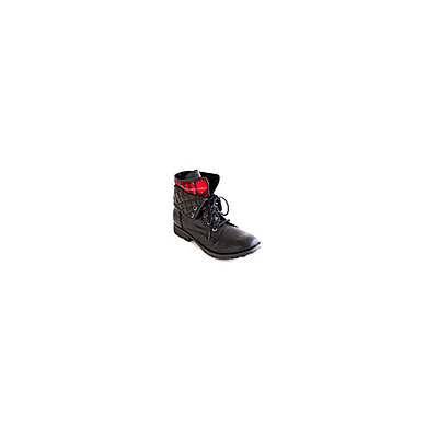 Rock N Candy Spraypaint Cuffed Boots 8 M, Black