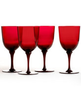 Martha Stewart Collection Wine Glasses, Set of 4 Red Goblets