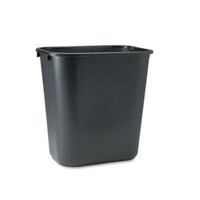 Rubbermaid-Black Soft Molded Plastic Wastebasket, 28 1/8 Quart
