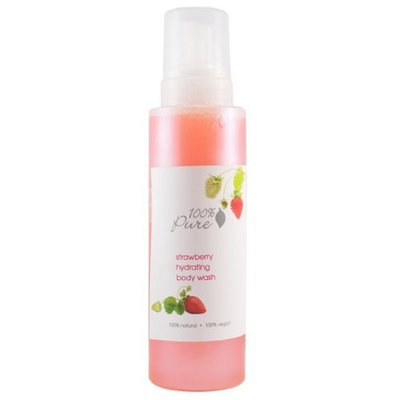 100% Pure Hydrating Body Wash Strawberry