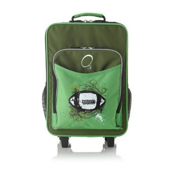 O3 Obersee Kids Rolling Luggage with Integrated Snack Cooler, Butterfly