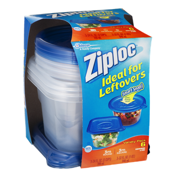 Ziploc Smart Snap Containers & Lids Variety Pack - 6 CT