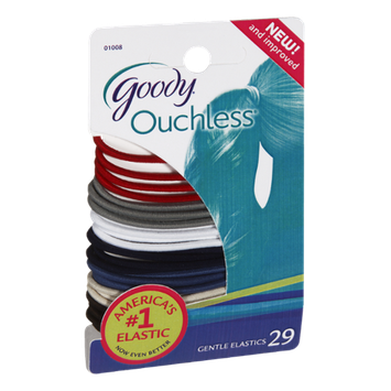 Goody Ouchless Gentle Elastics - 29 CT