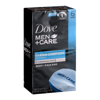 Dove Men+Care Clean Comfort Body + Face Bar - 6 CT