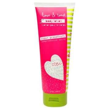 Love & Toast Body Lotion, Sugar Grapefruit, 8 oz