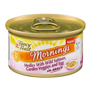 Fancy Feast® Mornings Medley With Wild Salmon, Garden Veggies And Egg In Sauce