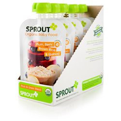 Sprout Foods Sprout Stage 2 Plum, Berry, Brown Rice & Quinoa