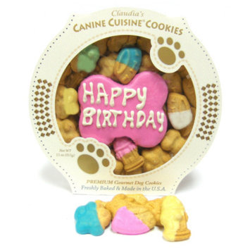Claudia's Cuisine Claudia's Canine Cuisine Pink Birthday Cookie Dog Treat