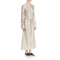 Calvin Klein Collection Hita Mixed Print Maxidress - Beige Black