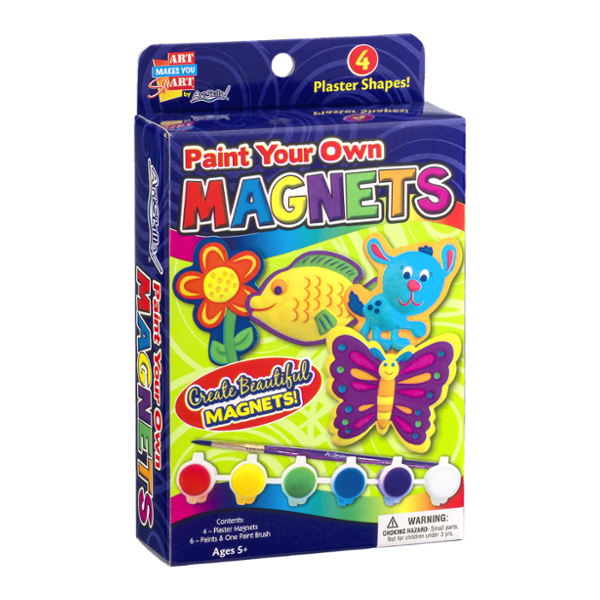 ArtSkills Paint Your Own Magnets - 4 CT