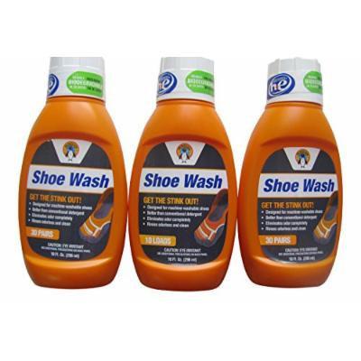 Nathans Penguin Shoe Wash Detergent 3-pack (10fl oz each) Eliminate Odor Stink, does 90 pairs total