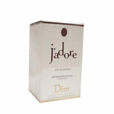 Christian Dior J'adore EDP Purse Spray Refills for Women, 0.67 oz, 3 count