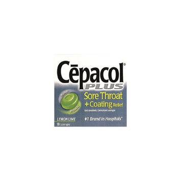 Cepacol Sore Throat and Coating Relief Lozenges, Lemon Lime - 18 ea