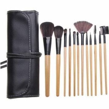 Bliss & Grace Professional Wood Make-Up Brush Set, 12 pc