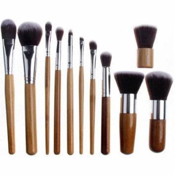 Bliss & Grace Professional Bamboo Eco Make-Up Brush Set, 11 pc