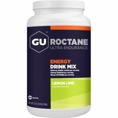 GU Roctane Energy Drink Mix: Lemon Lime, 24 Serving Canister