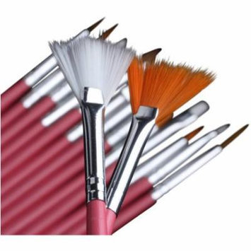 Bliss & Grace Professional Nail Brush Set, 15 pc