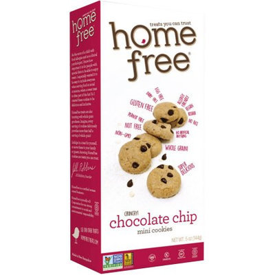 Homefree Home Free Crunchy! Chocolate Chip Mini Cookies, 5 oz, 6 count