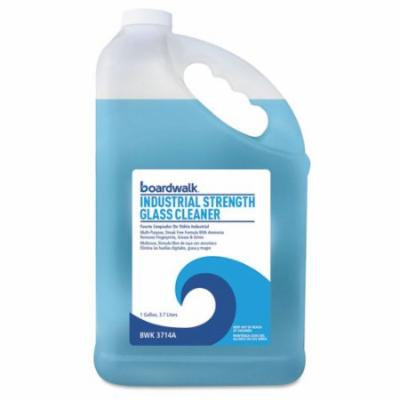 Boardwalk Industrial Strength Glass Cleaner with Ammonia, 1 Gal Bottle, 4/Carton 3714A