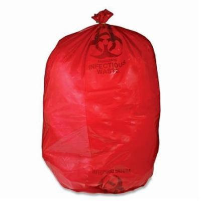 RIWB142143 Unimed-Midwest Red Biohazard Waste Bag - 33 gal - 31