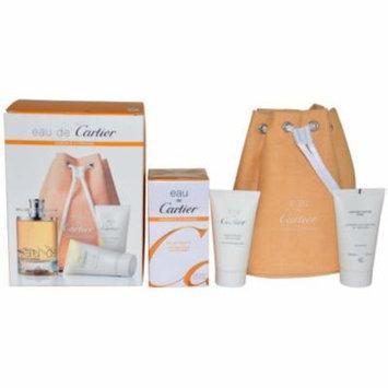 Cartier Men's Eau De Cartier Essence D'Orange Gift Set, 4 pc